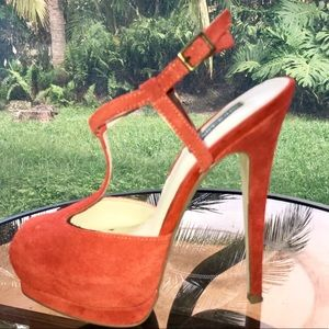 Shoes - Peep toe platform heels